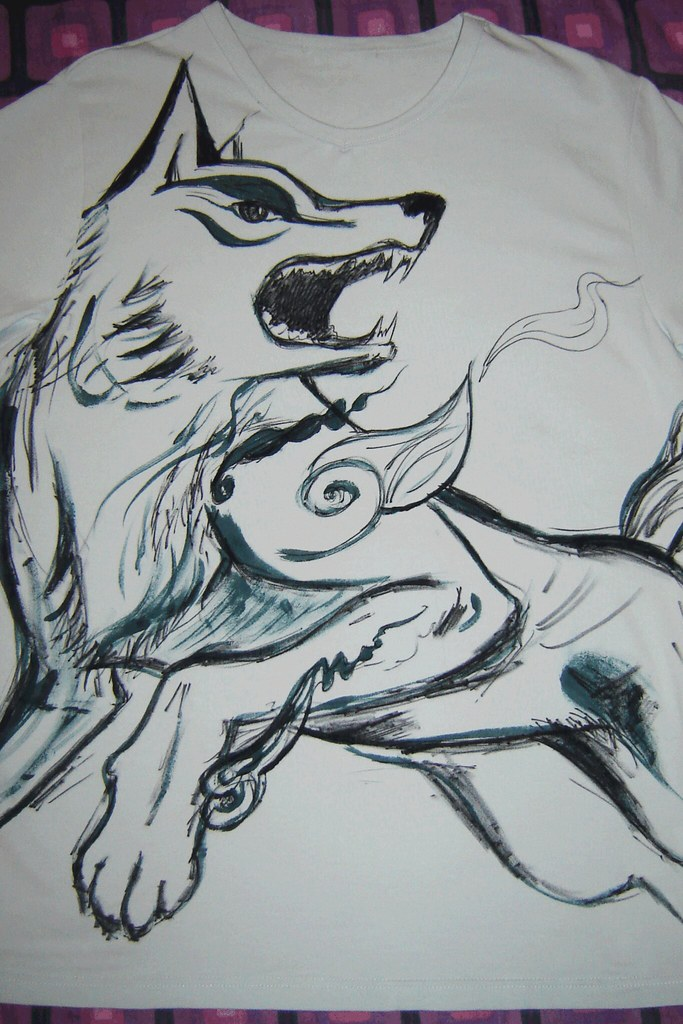 Wolf T-shirt, stage 2