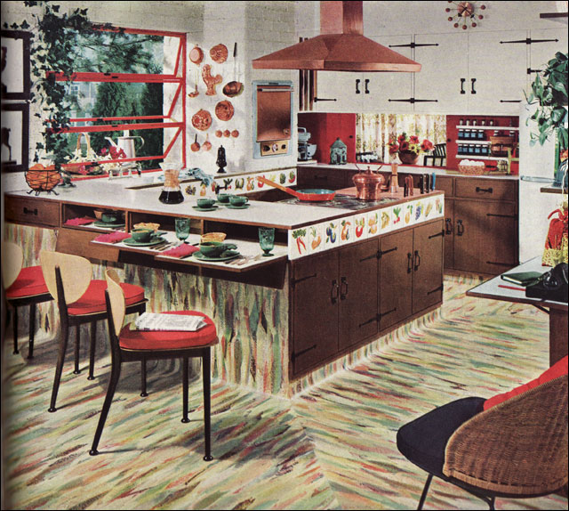 1954 armstrong kitchen copper accents a photo on - Kitchen with copper accents ...