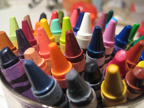Crayons, Coloring Book for Adults