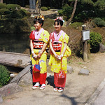 Smiling Girls, Spring Festival at Toshogu Shrine, Nikko, Japan