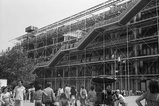 Le centre Pompidou...en 1980