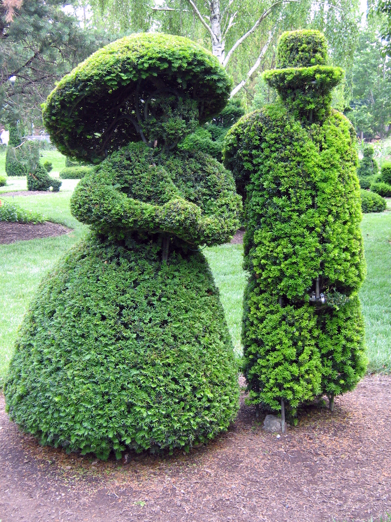 Topiary Couple