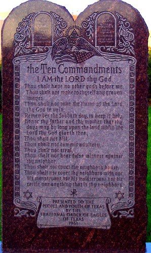Ten Commandment Monument  Capitol grounds  Austin Texas
