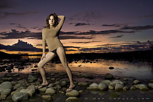sunset sexy fashion river model flickrbadge prettygirl coogan modelmayhem
