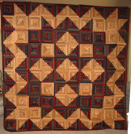 Log Cabin Star Quilt My First Queen Sized Quilt Made