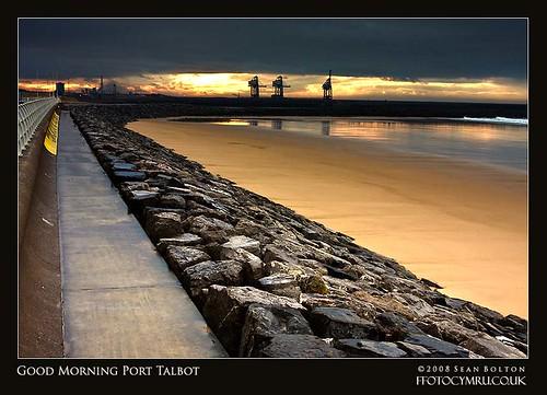 uk beach wales port coast unitedkingdom steel cymru coastal coastline defences steelworks aberavon porttalbot corus impressedbeauty overtheexcellence