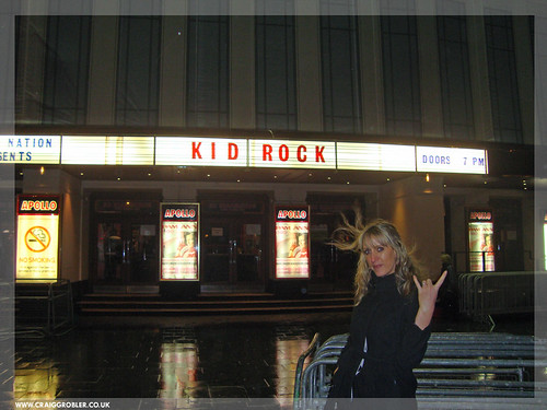 Silke rocking out after Kid Rock