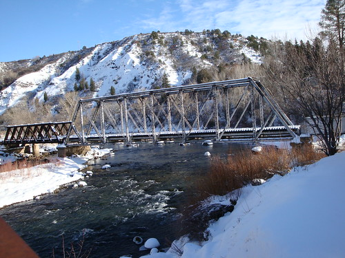 christmas railroad bridge winter vacation snow river colorado silverton hiking rr rapids trail biking railroadbridge durango animasriver durangosilverton dsng durangoco narrowgage
