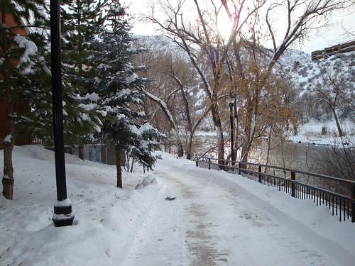 winter sunset vacation snow river colorado stream hiking trail biking co durango animasriver durangoco animasrivertrail