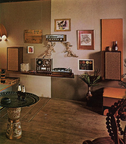 Stereo wall, 70s living room