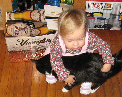 Hugging Duncan