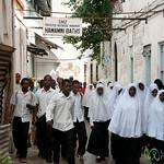 Schools Out in Stone Town - Zanzibar, Tanzania
