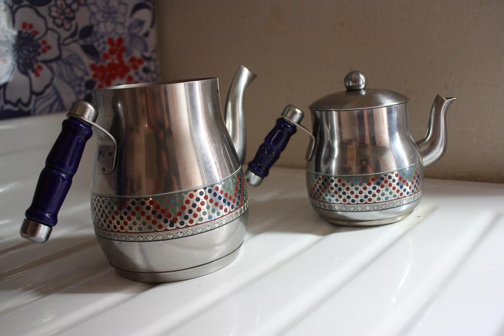 Separated Turkish Tea Pot
