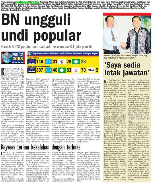 sebaran.com keratan akhbar malaysia Berita Harian Metro ...