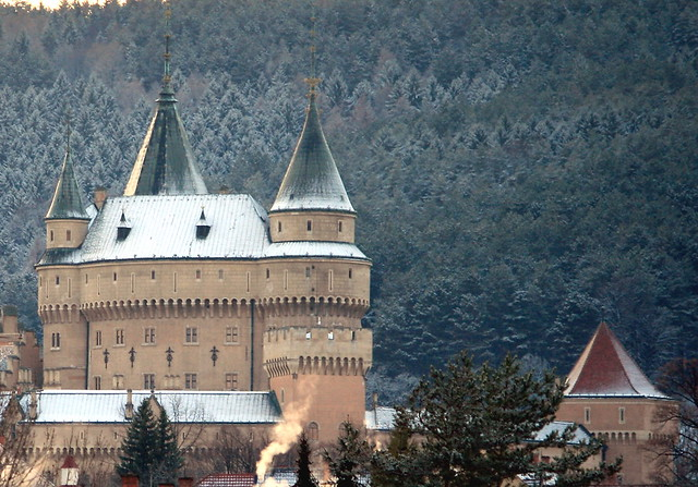 Bojnice Castle in Winter, Slovakia