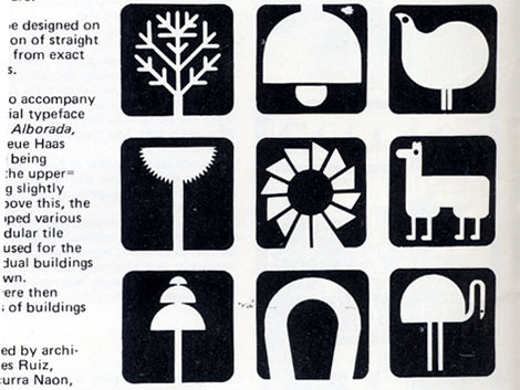 Argentinian signage from Icographic Magazine