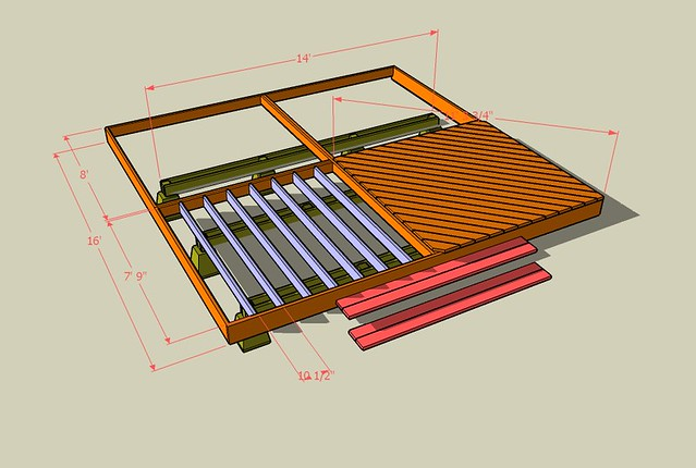Deck plans created with google sketchup i spent the day for Sketchup deck design