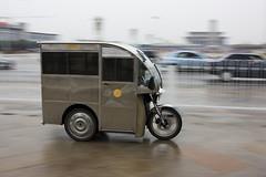 Photo New Zealand in English.  Трехколесный мотоцикл в Пекине.