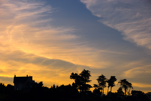 sunset sky clouds binic