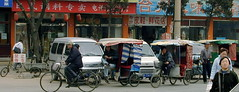 rickshaw, town, market, vehicle, tourism, public space, street,