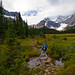 Hiking the Astoria River trail out of Tonquin Valley, Jasper NP, Canada