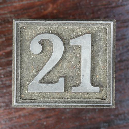 Calendar Number 21