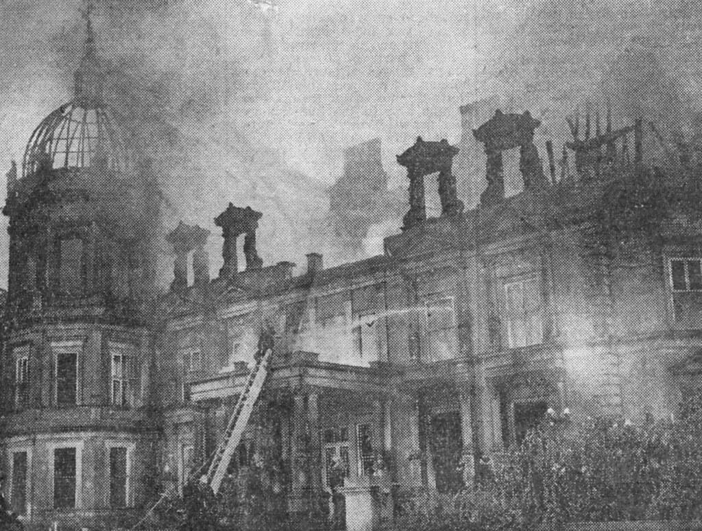 Marton Hall - on fire