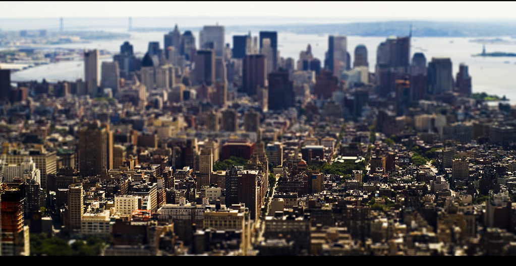 Manhattan desde el Empire State in Tilt Shift