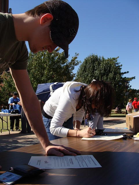 Young Voters Registering to Vote