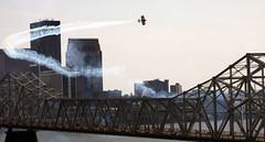 Lucas Oil Pitts Biplane over the Clark Memorial Bridge