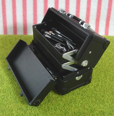 Re-ment / Rement / R-M Miniature Toys : Black Make up Box / Cosmetic Case