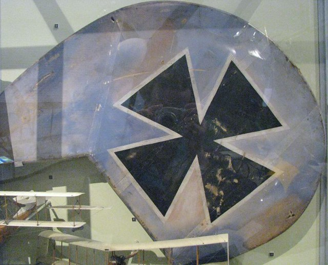CASM 109 - WWI - rudder from Albatros D.V shot down by Cdn ace Major A.W. Carter on 19 February 1918