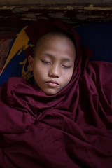 Sleeping Buddhist Monk - Hpa-an, Myanmar