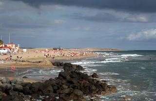 Image of Playa de Maspalomas near Playa del Ingles. sea beach grancanaria canaryislands maspalomas hisgett