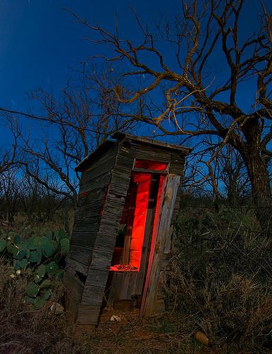 abandoned night ruins texas outhouse eskota