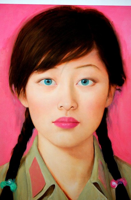 Arts at 798, Beijing- her blue eyes on her Chinese face ...
