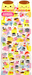 Kamio Sweet Pudding sticker sheet
