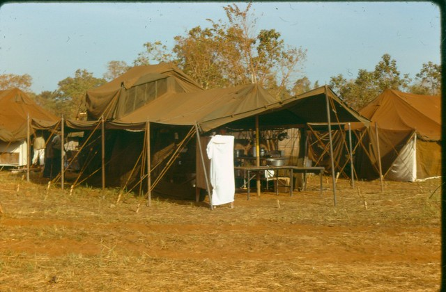Mess Tent 7th Surgical Hospital MA advance party Blackhorse Vietnam 196