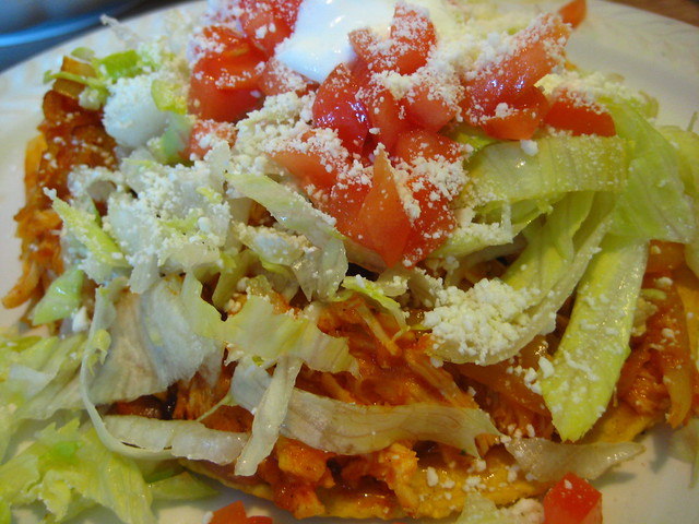 chicken tinga tostada | Flickr - Photo Sharing!