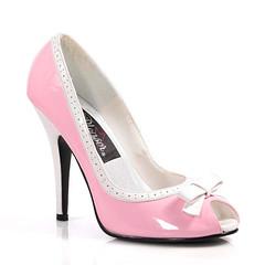 bridal shoe, basic pump, footwear, high-heeled footwear, leather, pink,