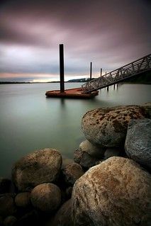 Dock on the Columbia river