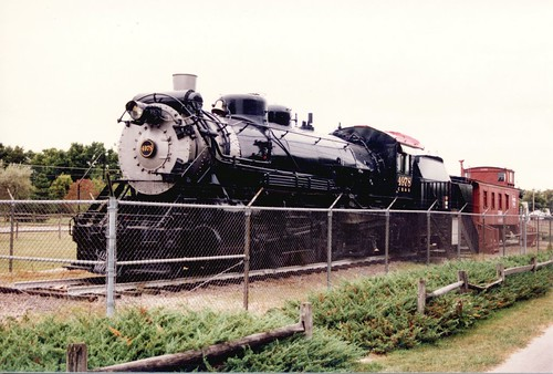 Chicago, Burlington & Quincy RR # 4978 at it's original display location. Ottawa Illinois. August 1986. by Eddie from Chicago