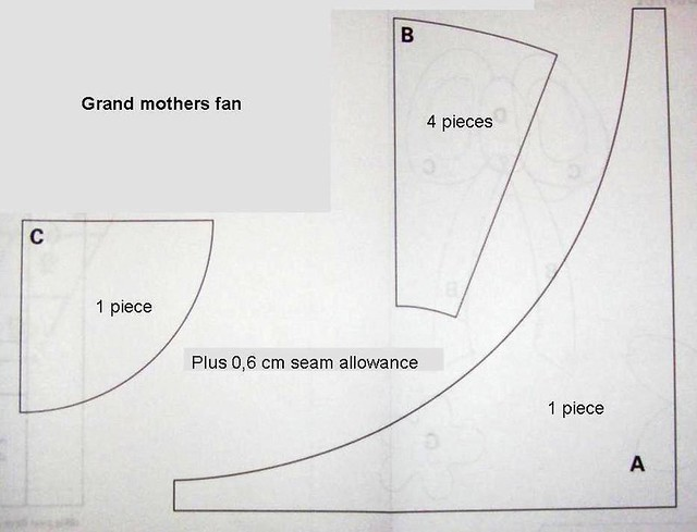 Grandmothers Fan Pattern Templates B And C As Well As Dia Flickr Photo Sharing