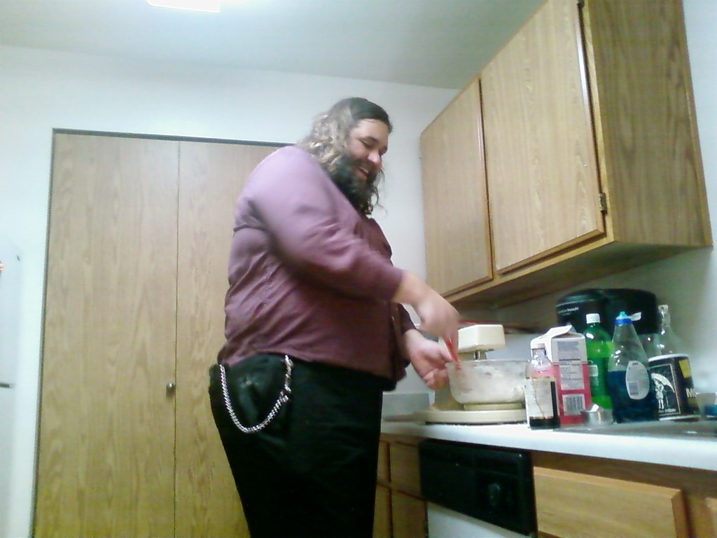 Hagrid mixing the dough for holiday cookies