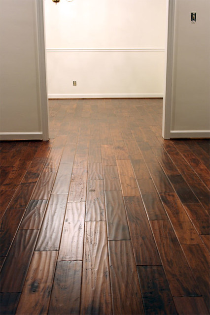 Golden teak handscraped flooring flickr photo sharing for Virginia mills acacia