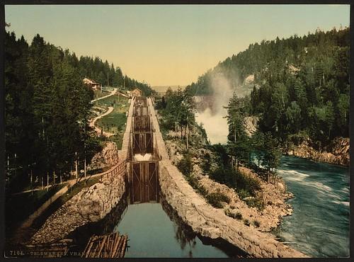 [Vuangfos (i.e., Vrangfoss) Lock, Bandak Canal, Telemarken (i.e, Telemark), Norway]  (LOC)