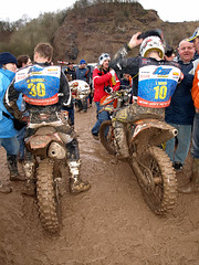 auto racing(0.0), dirt track racing(0.0), all-terrain vehicle(0.0), racing(1.0), soil(1.0), enduro(1.0), vehicle(1.0), sports(1.0), race(1.0), endurocross(1.0), off road racing(1.0), motorsport(1.0), off-roading(1.0), rally raid(1.0), motorcycle racing(1.0), mud(1.0), motocross(1.0),