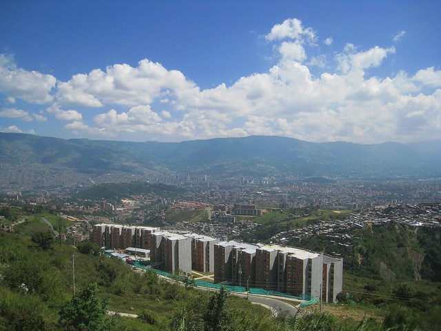 View of Medellin from La Aurora, the last stop on the metrocable