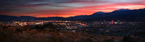 sunset sky panorama lights dusk nevada magenta nv reno sparks fakehdr