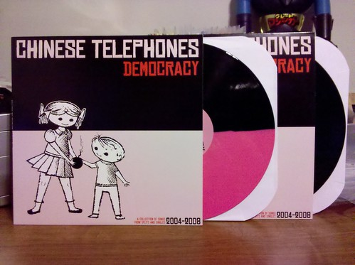 Chinese Telephones - Democracy LP - Pink & Black Split Color Vinyl /150